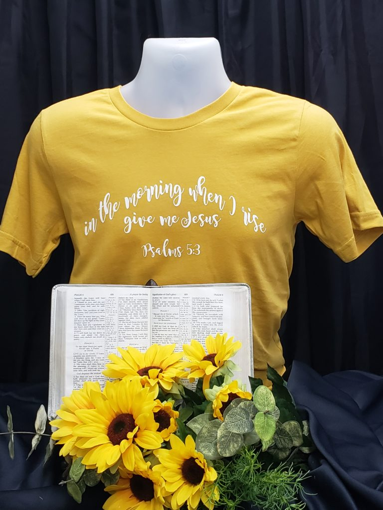 Give Me Jesus Apparel Christian t shirt hymn words in the morning when I rise Give me Jesus