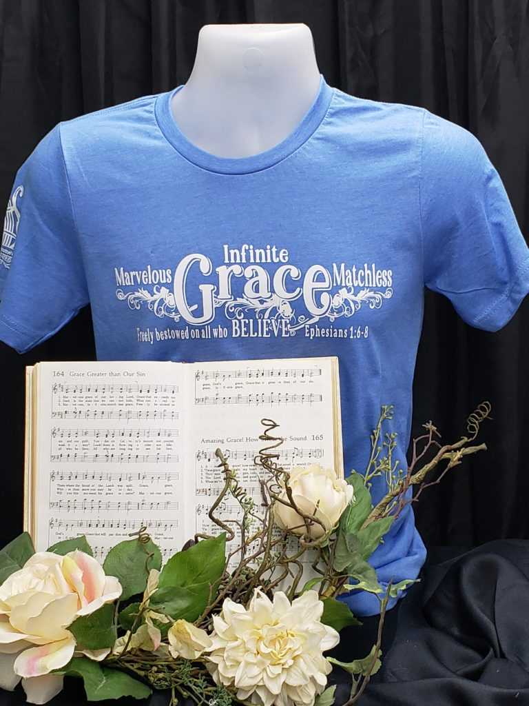 Marvelous Grace apparel Christian t shirt hymn Marvelous, Infinite, matchless Grace greater than all our sin